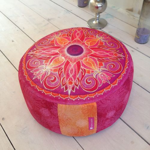 "Yogakissen ""You´ve got the power pink-orange"" 15 cm hoch"
